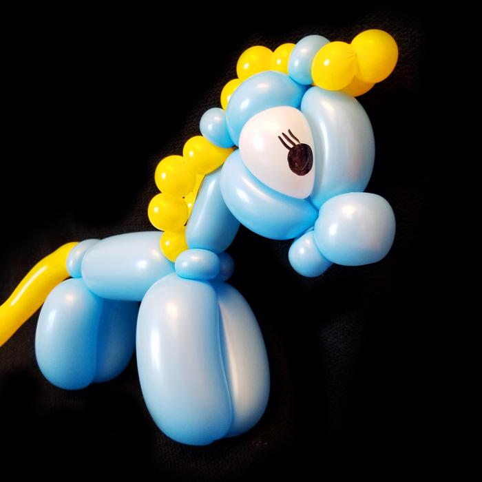 blue horse balloon animal