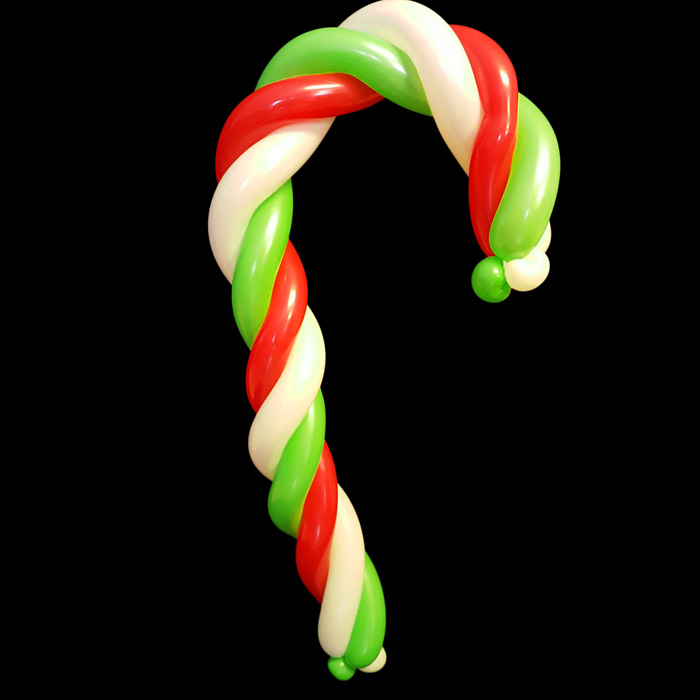 candy cane balloon figure