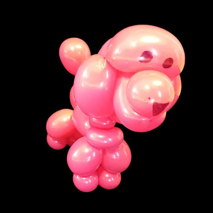 pink balloon animal dog