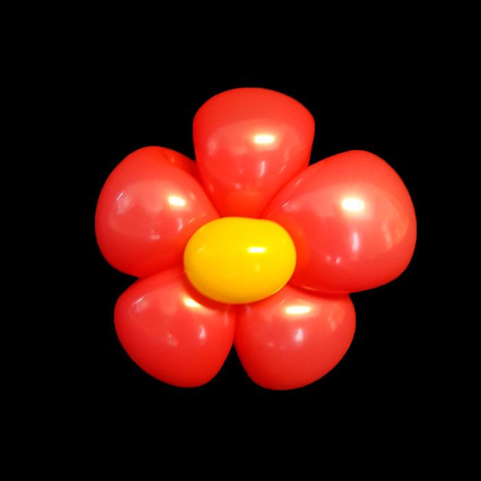 red flower balloon figure