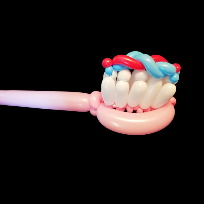 toothbrush balloon twist