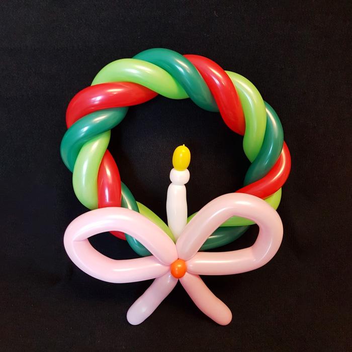 wreath candle christmas balloon figure