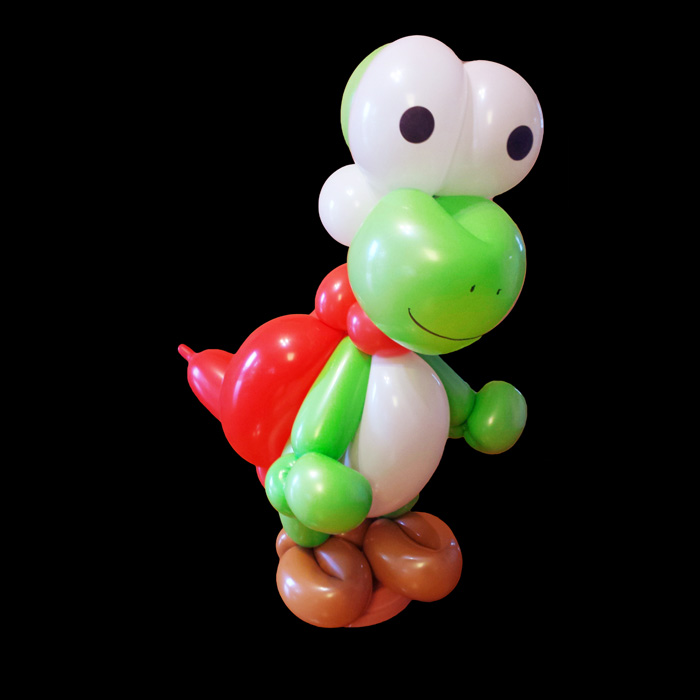 yoshi balloon animal character